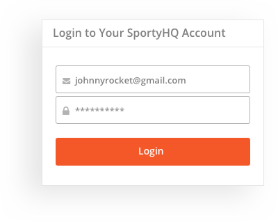 sportyHQ Your members can login with their own account