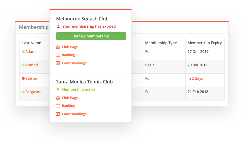 SportyHQ: Features: Membership Management