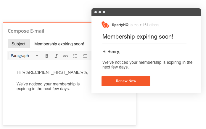 sportyHQ Communicate easily with your membership